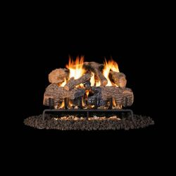 Real Fyre Charred Angel Oak Outdoor Vented Gas Log Set
