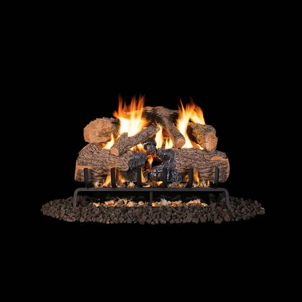 Real Fyre Charred Angel Oak Vented Gas Log Set image number 0