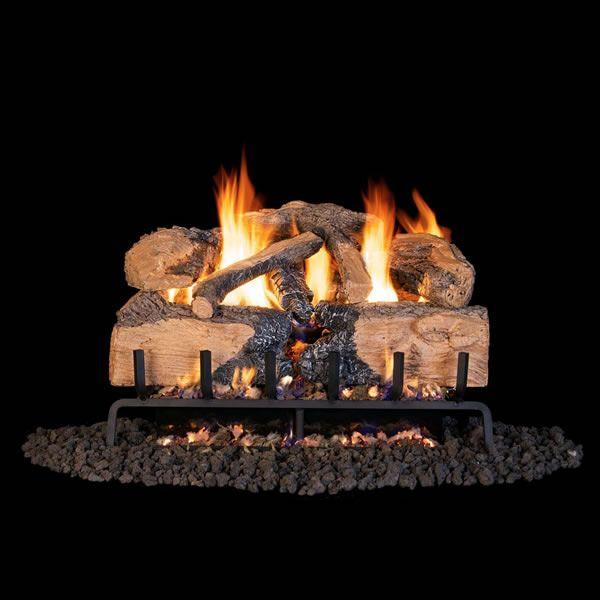 Real Fyre Charred Angel Split Oak Outdoor Vented Gas Log Set image number 0