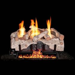 Real Fyre Charred Alpine Birch Ventless Gas Log Set