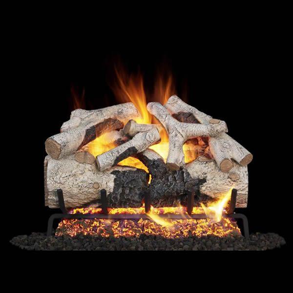 Real Fyre Charred Burnt Aspen Vented Gas Log Set image number 0