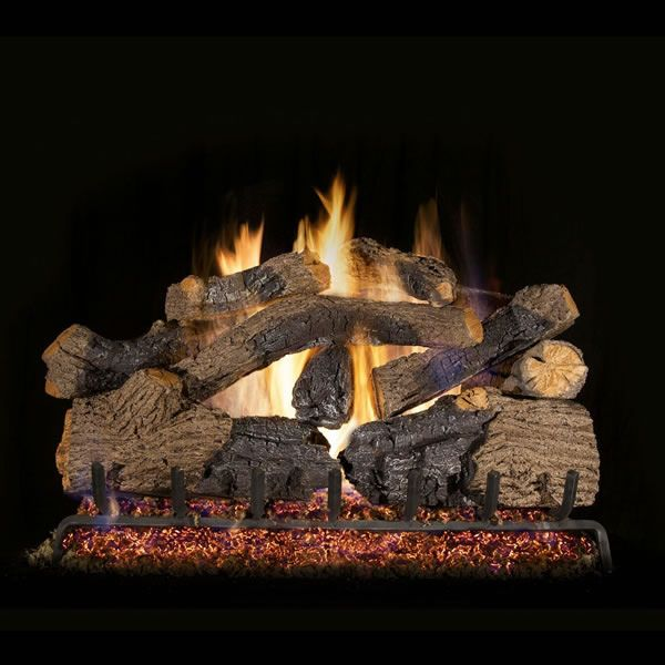 Real Fyre Charred Grizzly Oak Vented Gas Log Set image number 0