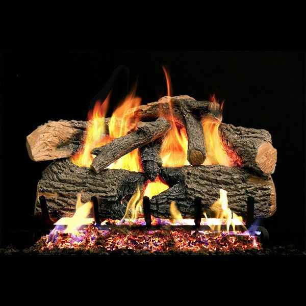 Real Fyre Charred Evergreen Oak Vented Gas Log Set image number 0