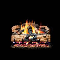 Peterson Real Fyre Charred Evergreen Split Oak Vented Gas Log Set