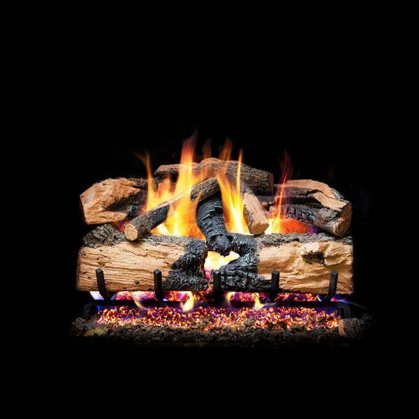 Real Fyre Charred Evergreen Split Oak Vented Gas Log Set image number 0