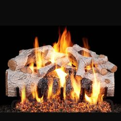 Real Fyre Charred Mountain Birch Outdoor Vented Gas Log Set