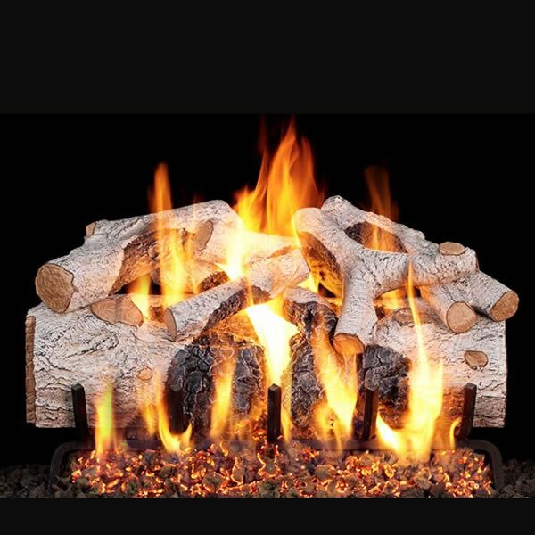 Real Fyre Charred Mountain Birch Outdoor Vented Gas Log Set image number 0