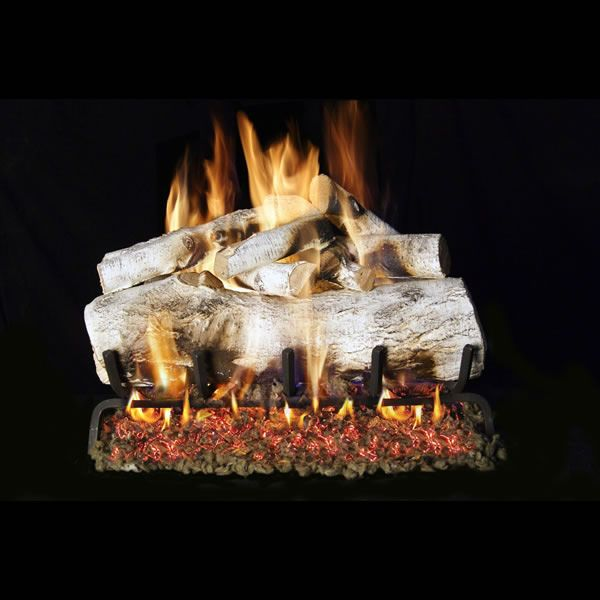 Real Fyre Charred Mountain Birch Vented Gas Log Set image number 0