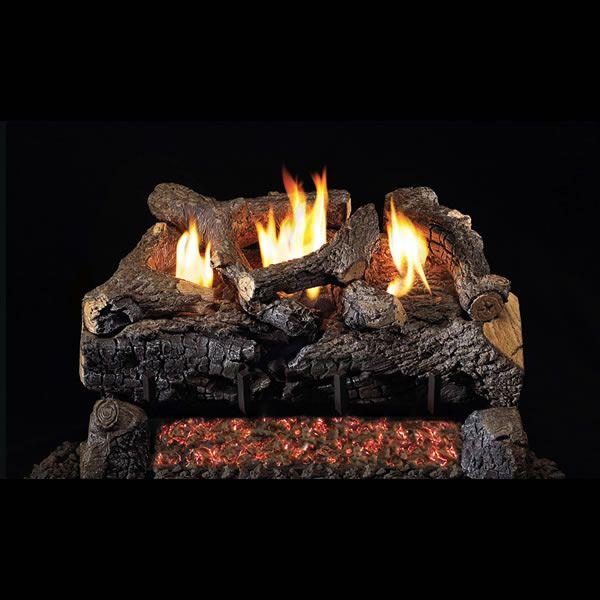 Real Fyre Evening Fyre Charred ST Ventless Gas Log Set image number 0