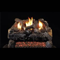 Real Fyre Evening Fyre Charred ST Ventless Gas Log Set