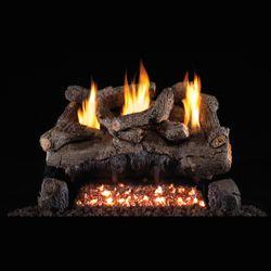 Real Fyre Evening Fyre See Through Ventless Gas Log Set