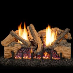 Real Fyre Foothill Split Oak Ventless Gas Log Set
