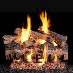 Real Fyre Gnarled Split Oak Outdoor Vented Gas Log Set