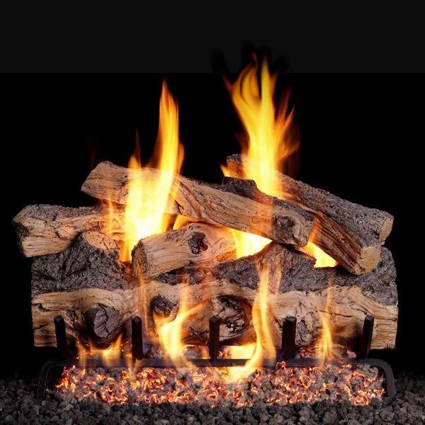 Real Fyre Gnarled Split Oak Outdoor Vented Gas Log Set image number 0