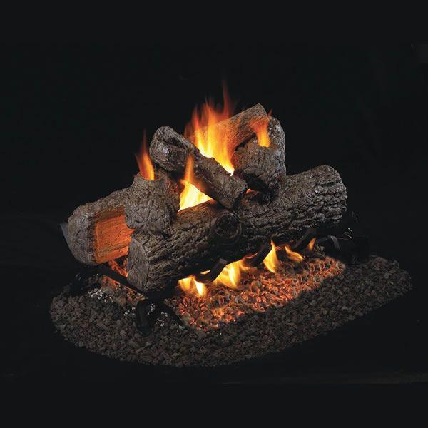Real Fyre Golden Oak See Through Ventless Gas Log Set image number 0