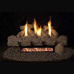 Real Fyre Live Oak Ventless Gas Log Set