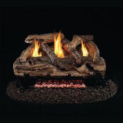 Real Fyre Split Oak See Through Ventless Gas Log Set