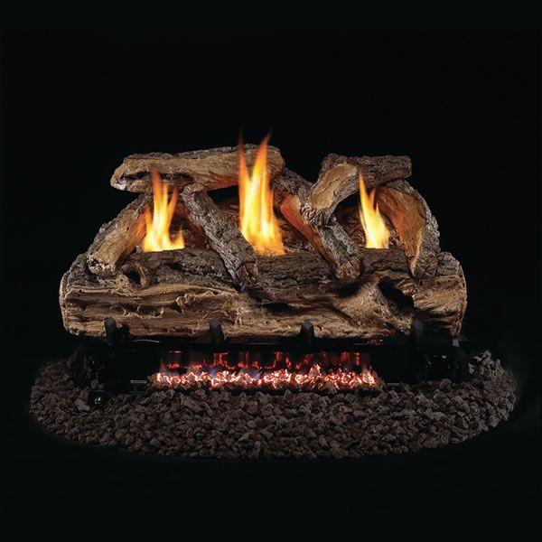 Real Fyre Split Oak Ventless Gas Log Set image number 0
