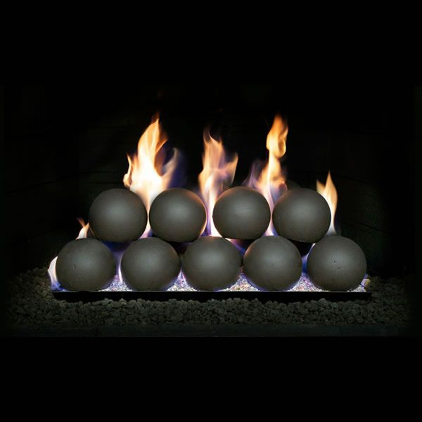 "Real Fyre Vented Fireplace Ball Set - 4"" image number 0"