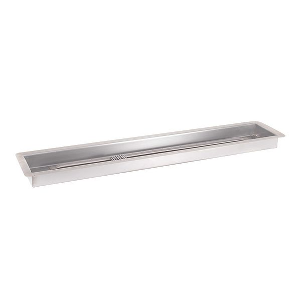 Linear Stainless Steel Burner with Drop-In Pan image number 0