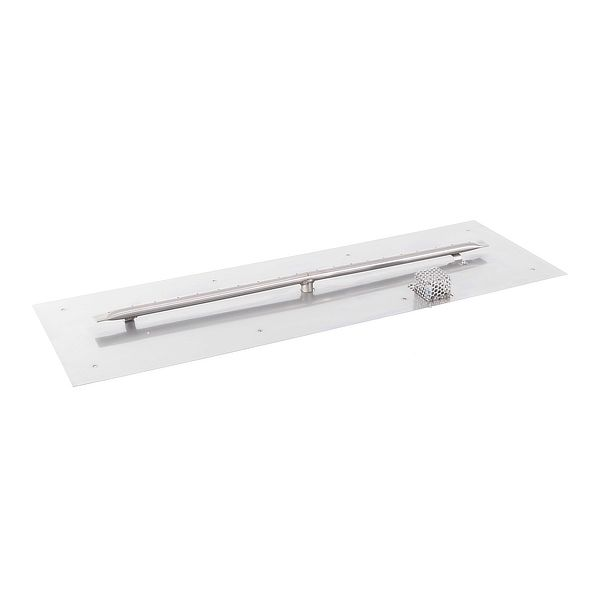Linear Stainless Steel Burner with Flat Pan image number 0