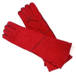 Red Fireplace Hearth Gloves - Long