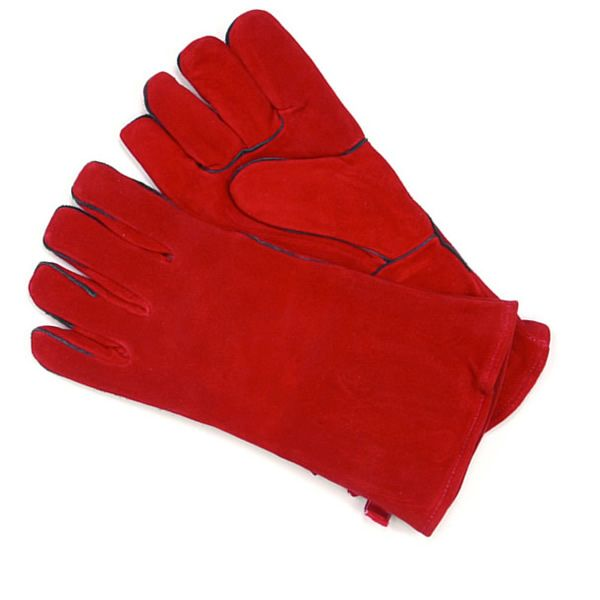 Red Fireplace Hearth Gloves - Short image number 0