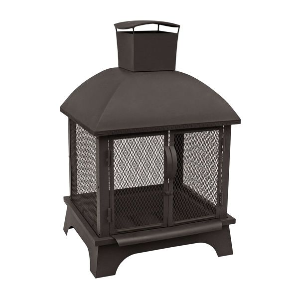 Redford Outdoor Fireplace - Black image number 1