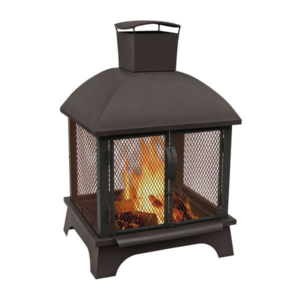 Redford Outdoor Fireplace - Black image number 0