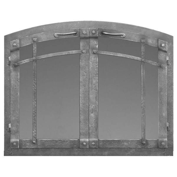 Rustica Arched Masonry Fireplace Doors image number 0