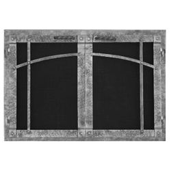 Rustica Rectangular Masonry Fireplace Doors
