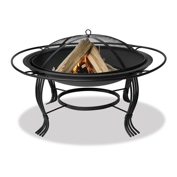 "Wood Burning Fire Pit with Black Outer Ring - 34"" image number 0"