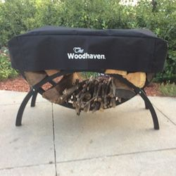 """Woodhaven 39"""" Crescent Firewood Rack Cover"""