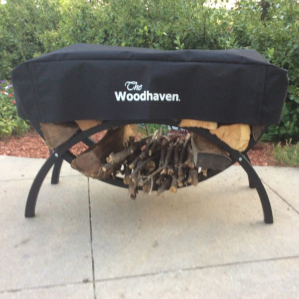 "Woodhaven 39"" Crescent Firewood Rack image number 1"