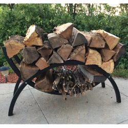 "Woodhaven 39"" Crescent Firewood Rack"