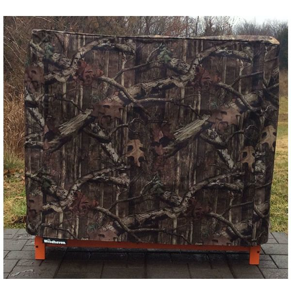 Woodhaven Camo Fire Wood Rack Full Cover - 4' image number 0