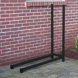 Woodhaven 4' Outdoor Firewood Rack Extension Kit - Black