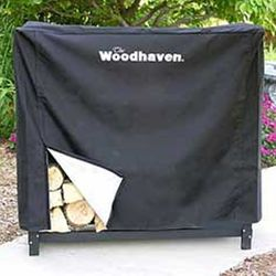 Woodhaven 3' Firewood Rack Cover - Black