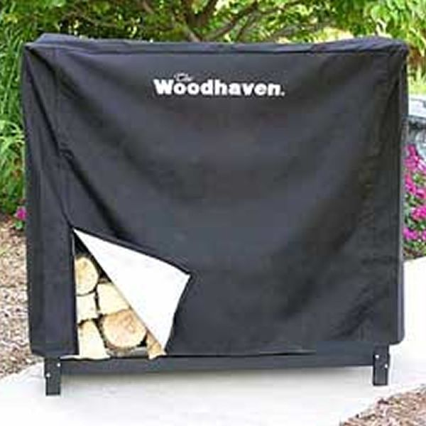 Woodhaven Black Fire Wood Rack Full Cover - 3' image number 0