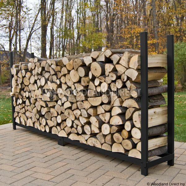 Woodhaven Black Firewood Rack - 10' image number 2
