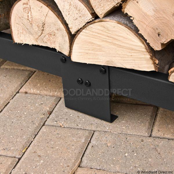 Woodhaven Black Firewood Rack - 10' image number 5