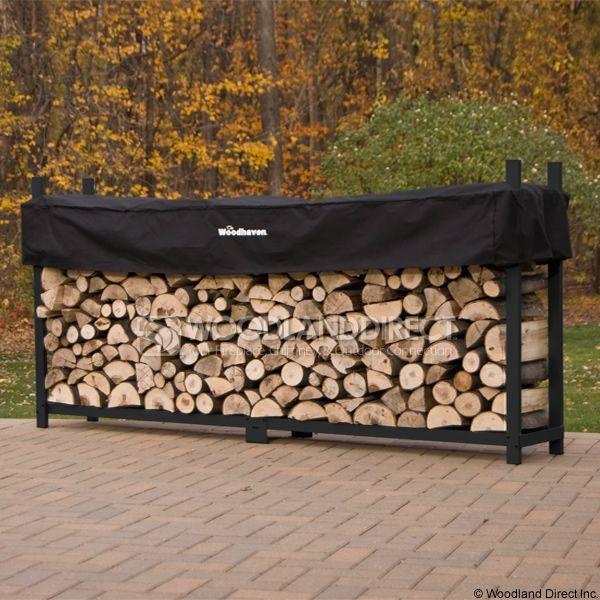 Woodhaven Black Firewood Rack - 10' image number 0