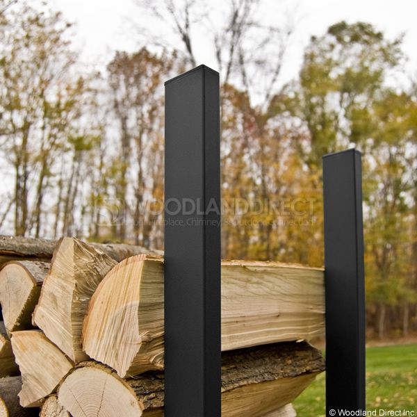 Woodhaven Black Firewood Rack - 12' image number 1
