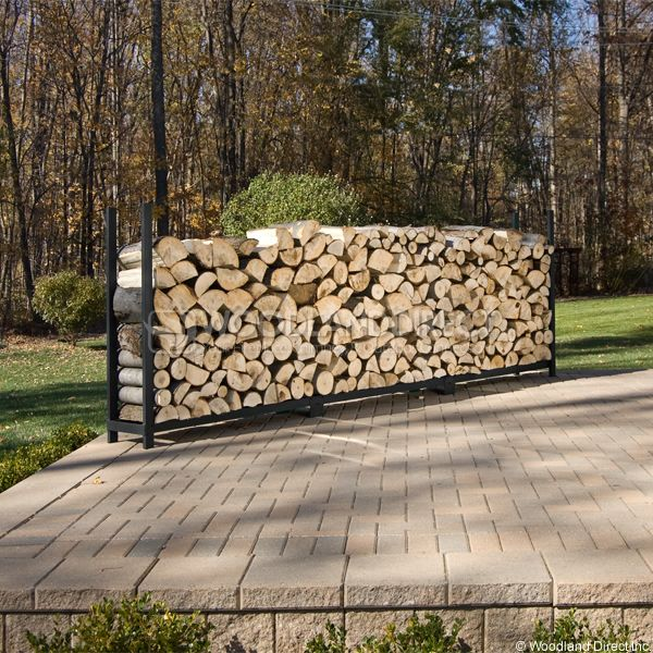 Woodhaven Black Firewood Rack - 12' image number 2