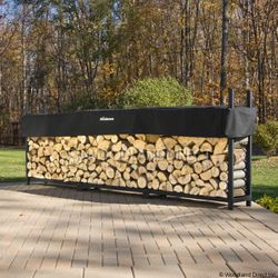 Woodhaven Black Firewood Rack - 12'