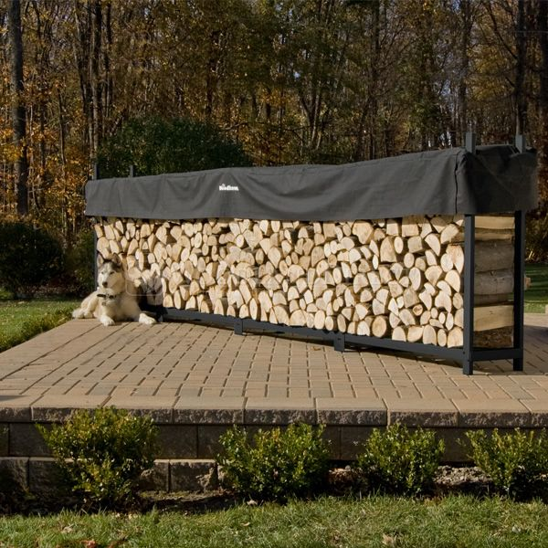 Woodhaven Black Firewood Rack - 16' image number 2