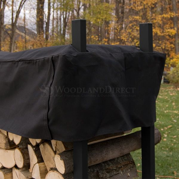Woodhaven Black Firewood Rack - 16' image number 4