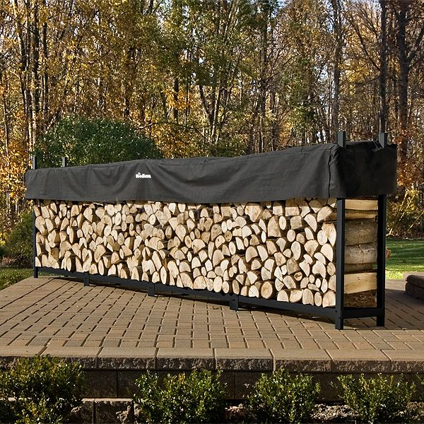 Woodhaven Black Firewood Rack - 16' image number 0