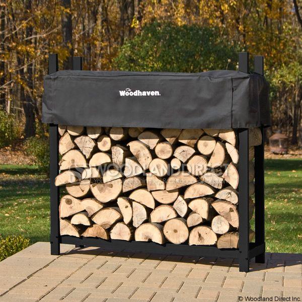 Woodhaven Black Firewood Rack - 4' image number 0