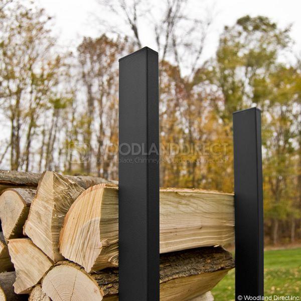 Woodhaven Black Firewood Rack - 8' image number 1